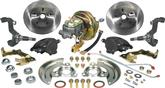 "1967-74 Power Disc Brake Conversion Set with Stock Spindles and 11"" Plain Rotors"