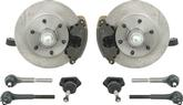 "1963-87 Pickup 6 Lug Front Disc Brake Spindle Upgrade Set with 2"" Drop Spindles and 12"" Rotors"
