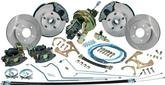 1968-69 Camaro / Firebird, 1968-74 Nova 4 Wheel Disc Brake Conversion Set Plain Rotors/Rubber Hoses