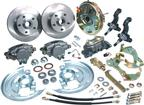 "1967-74 Front Disc Brake Conversion Set with 9"" Booster,  Plain Rotors and Rubber Hoses"
