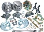 "1967-74 Front Disc Brake Conversion Set with 9"" Booster, Drilled Rotors and Stainless Hoses"