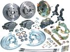 "1967-74 Front Disc Brake Conversion Set with 11"" Booster, Drilled Rotors and Stainless Hoses"