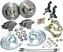1967-74 Basic Front Disc Brake Conversion Set, Drilled Rotors/Stainless Hoses, without Steering Arms