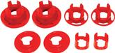 2010-11 Camaro BMR Rear Cradle Bushing Set, Poly, Inserts Only, Street Version - Red