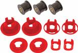 2010-11 Camaro BMR Rear Cradle Bushing Set, Street Version - Black And Red