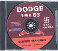 1963 Dodge Shop Manual CD Rom