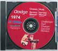 1974 Dodge Shop Manual CD Rom
