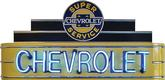 "48"" X 24"" X 8"" Chevrolet Super Service Neon Sign"