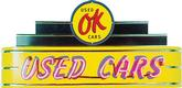48 X 24 X 8 Ok Used Cars  Neon Sign
