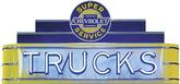48 X 24 X 8 CHEVY TRUCKS SUPER SERVICE NEON SIGN