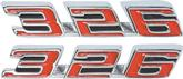 1967 FIREBIRD 326 HOOD EMBLEMS - PAIR