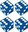 Blue Dice Valve Stem Cap Set