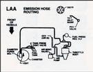 "1991 Camaro 191Ci / 3.1L Emission Hose Routing Decal (Code ""LAA"")"