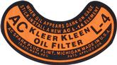1937-54 GM Truck Oil Filter Decal