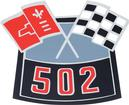 502 Crossed Flags Air Cleaner Decal