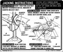1969 CAMARO COUPE JACKING INSTRUCTIONS DECAL