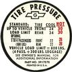 "Tire pressure Decal""G"" Code"