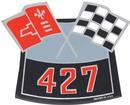 427 CROSS FLAGS AIR CLEANER DECAL
