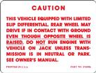 1964-72 Positraction Warning Decal For 10 or 12 Bolt (OE# 3745926)