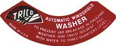 1941-49 Trico Washer Decal