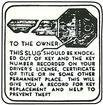 1936-54 GLOVE BOX KEY DECAL