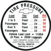 1966 TIRE PRESSURE DECAL (GM #3888745)