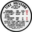 1967 Chevy II / Nova Station Wagon Tire Pressure Decal