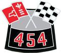 454 CROSS FLAGS AIR CLEANER DECAL