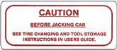 1962-64 FULL SIZE CHEVROLET CAUTION JACK DECAL