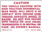 1971-78 10 BOLT POSITRACTION  WARNING DECAL (TRUNK)