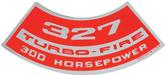 327 300-HP Turbo-Fire Air Cleaner Decal
