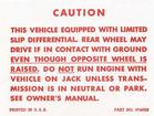 1957-63 Positraction Warning Decal (OE# 3745926)