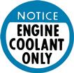 1978-82 Engine Coolant Only Decal