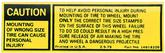 1979-82 Wrong Size Tire Warning