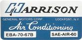 1967 Harrison AC Evaporator Box Decal