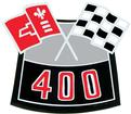 400 Cross Flags Air Cleaner Decal