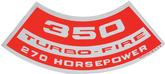 350 270-HP Turbo-Fire Air Cleaner Decal (OE#3995661)