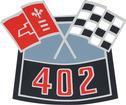402 CROSS FLAGS AIR CONDITION DECAL