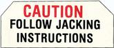 1959-61  FULL SIZE CHEVROLET SEDAN / HARDTOP / CONVERTIBLE JACK BASE CAUTION DECAL