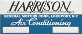 1955-64 Harrison Air Conditioning Evaporator Box Decal