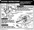 1967 CAMARO COUPE JACKING INSTRUCTIONS DECAL