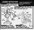 1969 Camaro Ss Jacking Instructions Decal