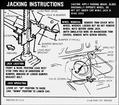 1968 Camaro SS Coupe Jacking Instructions Decal
