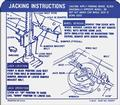 1968 Camaro SS Convertible Jacking Instructions Decal