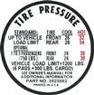 1967 Chevy II / Nova Super Sport Before 3-28-67 Tire Pressure Decal