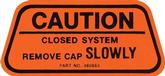 1970 California-Only Gas Cap Caution Decal