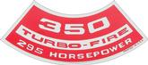 350 295-HP Turbo-Fire Air Cleaner Decal (OE#3905384)
