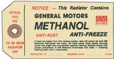 1949-60 METHANOL ANTI-FREEZE TAG