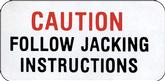 1962-64 FULL SIZE CHEVROLET JACK BASE CAUTION DECAL