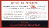 62-67 CHEVY/GMC 4 WHEEL DRIVE DANA SPICER INSTRUCTION DECAL